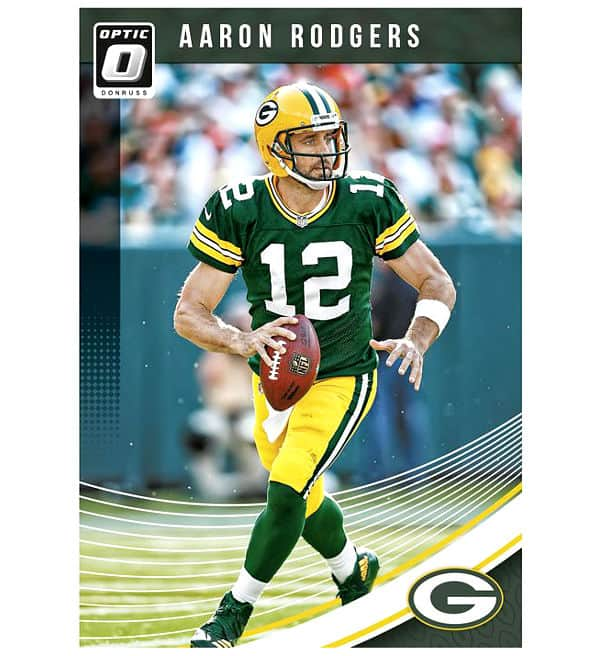 Panini 2018 Donruss Optic Football Card Aaron Rodgers