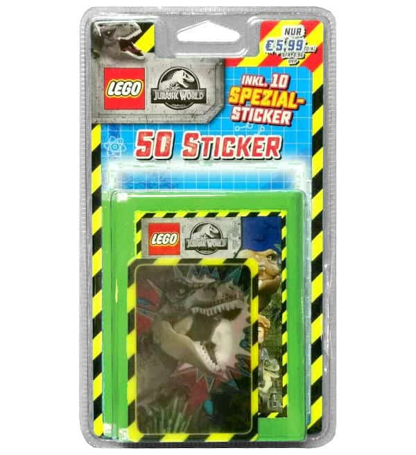 LEGO Jurassic World Sticker - Blister mit 50 Stickern
