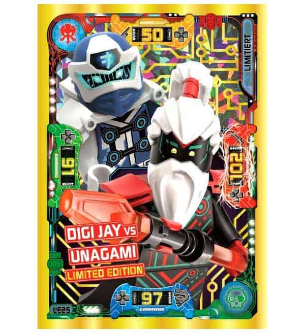 Lego Ninjago™ Serie 5 Trading Card Game Blister LE25 Digi Jay vs Unagami