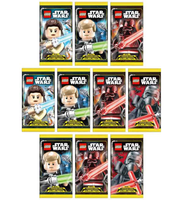 Lego Star Wars Serie 1 Trading Card Collection - 10 Tüten