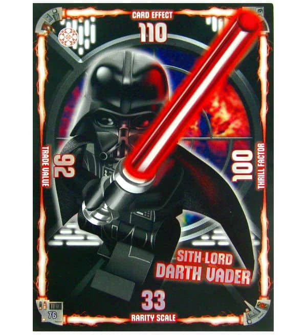 Lego Star Wars Serie 1 - XXL Karte Sith Lord Darth Vader