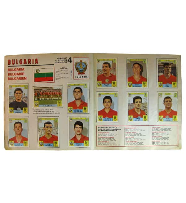 Panini Album Mexico 70 - Bulgarien