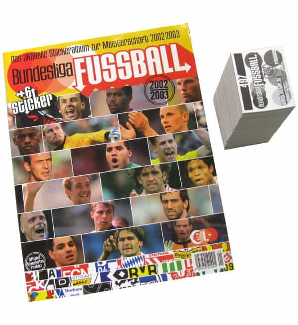 Panini Fussball 2002-2003 alle Sticker + Album