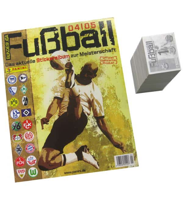Panini Fussball 2004-2005 alle Sticker + Album
