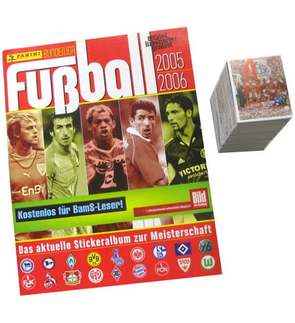 Panini Fussball 2005-2006 alle Sticker + Album