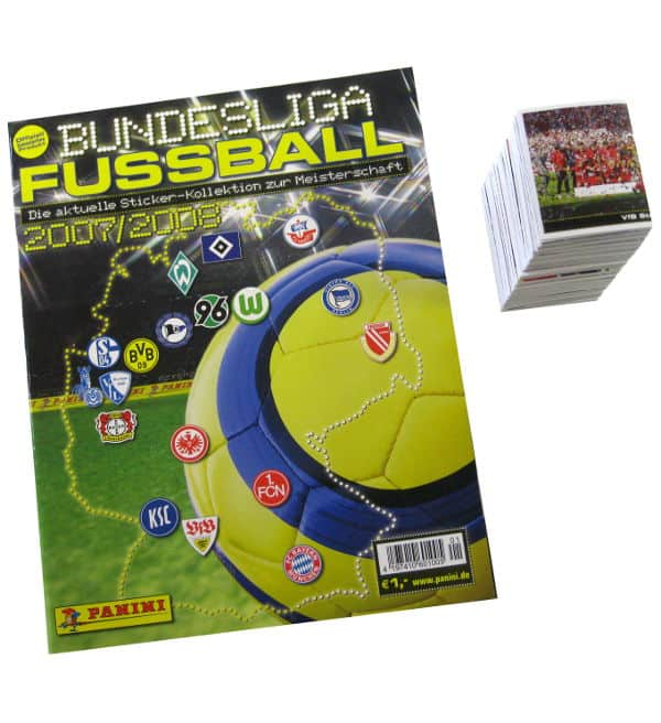 Panini Fussball 2007-2008 alle Sticker + Album