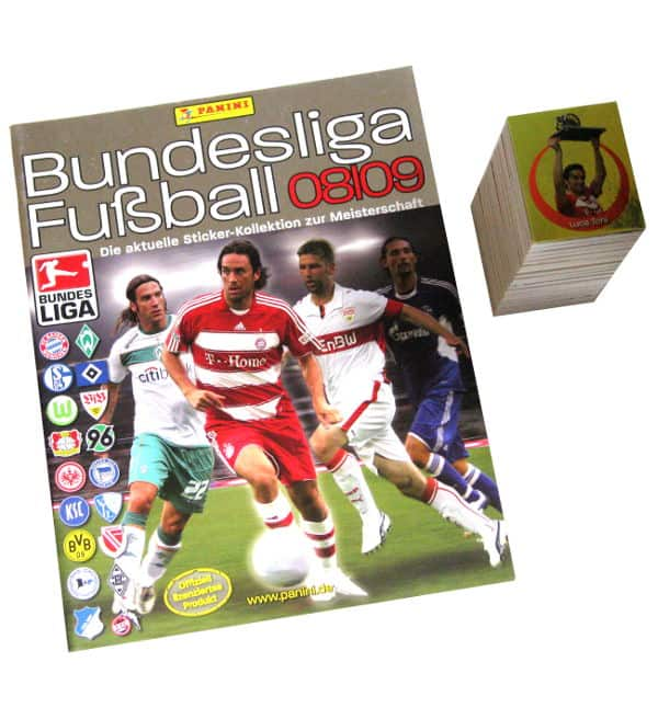 Panini Fussball 2008-2009 alle Sticker + Album