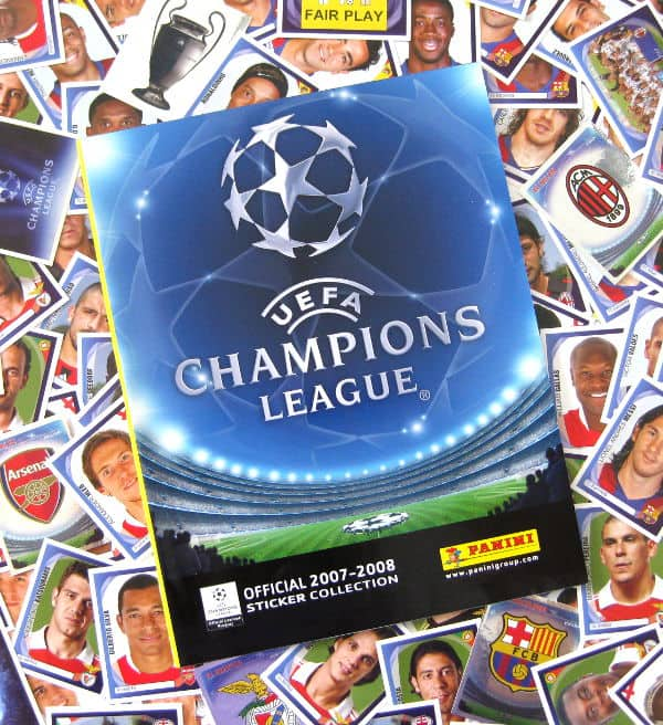 Panini Champions League 2007-2008 alle Sticker + Album Vorderseite
