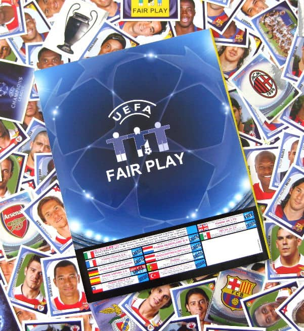 Panini Champions League 2007-2008 alle Sticker + Album Rückseite