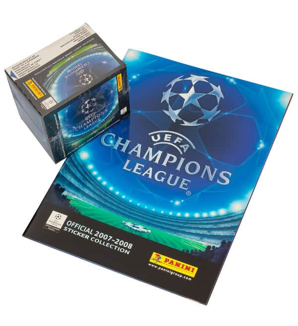 Panini Champions League 2007-2008 Display + Album Vorderseite