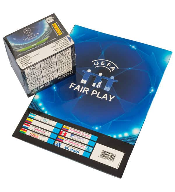Panini Champions League 2007-2008 Display + Album Rückseite