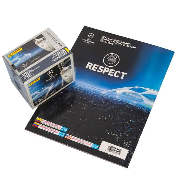 Panini Champions League 2008-2009 Display + Album Rückseite