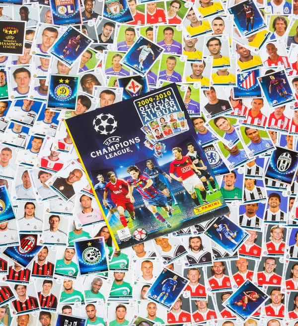 Panini Champions League 2009-2010 alle Sticker + Album Vorderseite
