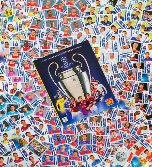 Panini Champions League 2011-2012 alle Sticker + Album Vorderseite