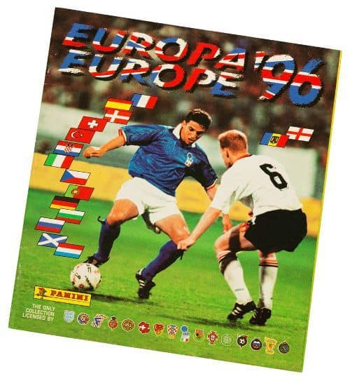 Panini Euro 96 Album EM 1996 international Vorderseite