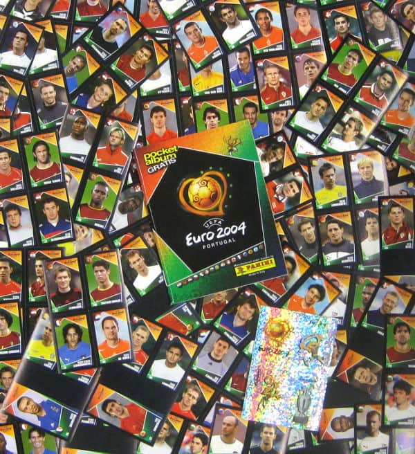 Panini EURO 2004 Mini Sticker Komplettsatz + Album