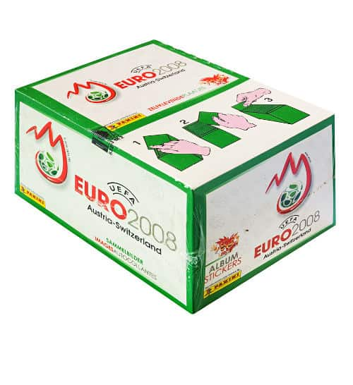 Panini EM Euro 2008 Display Box Grün Vorderansicht