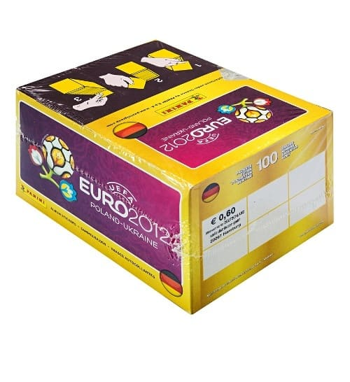Panini EM Euro 2012 Display Box Rückansicht