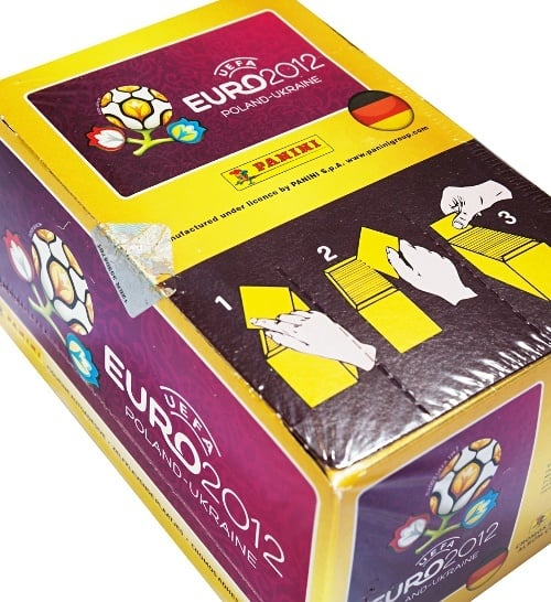 Panini EM Euro 2012 Display Box Oberseite
