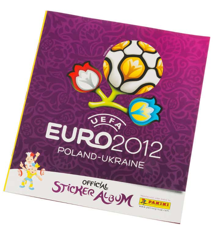 Panini Euro 2012 Sammelalbum internationale Version Vorderseite