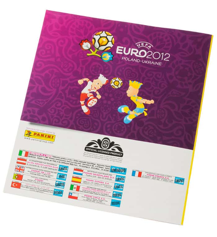 Panini Euro 2012 Sammelalbum internationale Version Rückseite