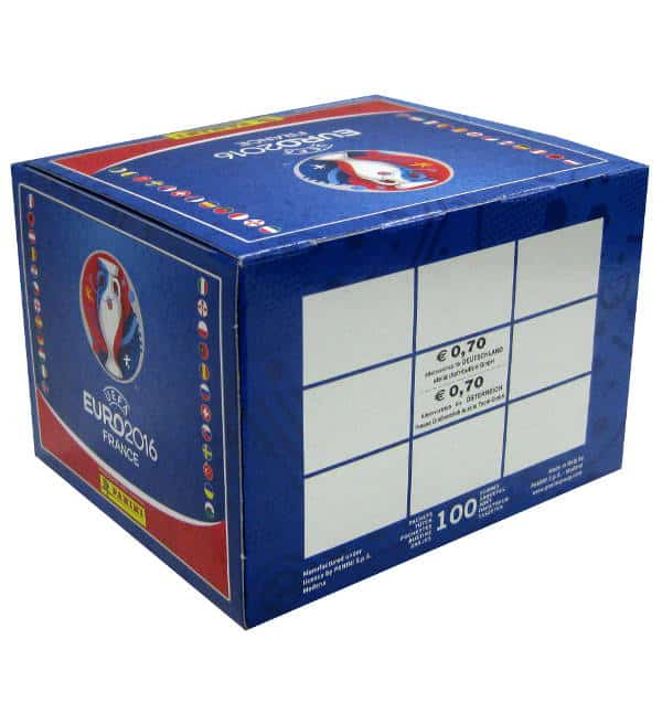 Panini EURO 2016 Display Rückseite