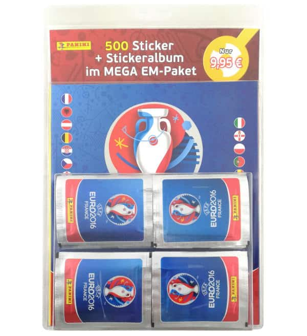 Panini EURO 2016 Sticker - Mega Pack