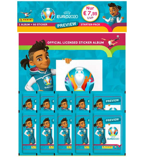 Panini EURO 2020 Preview Sticker - Starter Pack