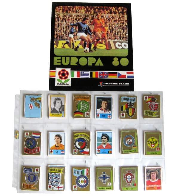 Panini Europa 80 alle 262 Sticker + Album