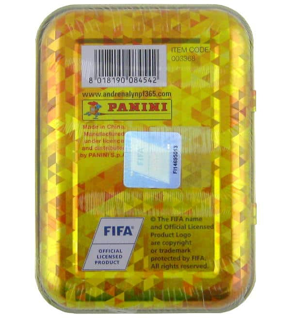 Panini FIFA 365 2018 Adrenalyn XL Pocket-Tin Rückseite