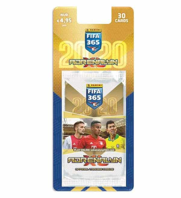 PANINI ADRENALYN XL FIFA 365 2018 5 Booster 30 Trading Cards