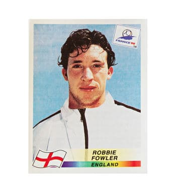 Panini WM France 98 Sticker 477 Robbie Fowler vorne