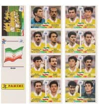 Panini WM France 98 - Iran Bogen Original UK
