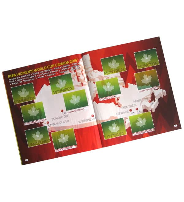 Panini Frauen WM 2015 Sticker Album Stadien