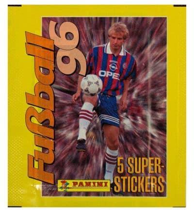 240 MARIO BASLER 2 GERMANY SUPERSTARS IN ACTION STICKER FUSSBALL 1996 PANINI