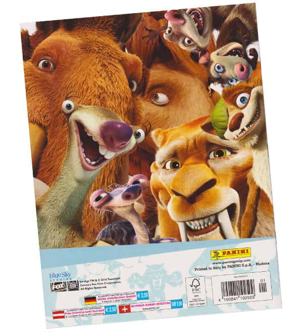 Panini Ice Age 5 Sticker-Album Rückseite