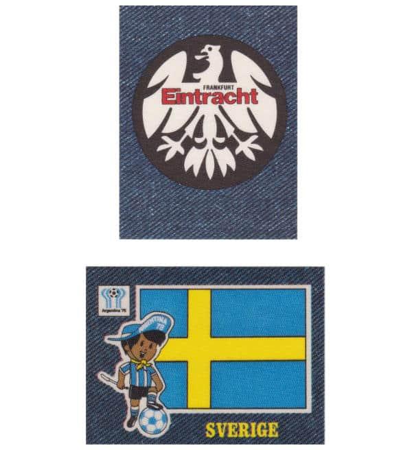 PANINI JEANS FUSSBALL AJAX TEAM BADGE EUROPA 1978