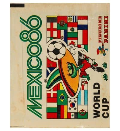 Panini Mexico 86 Tüte Display Version WM 1986 vorne