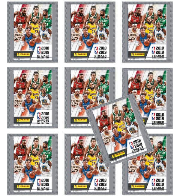 Panini NBA 2018 2019 Sticker - 10 Tüten