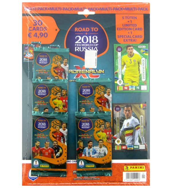 Panini Road to Russia 2018 Adrenalyn XL Multipack Eden Hazard