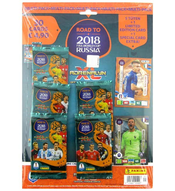 Panini Road to Russia 2018 Adrenalyn XL Multipack Hugo Lloris