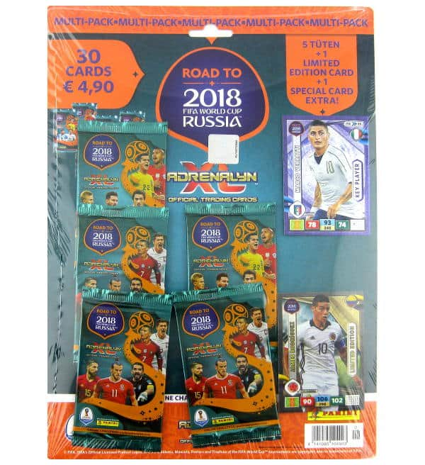 Panini Road to Russia 2018 Adrenalyn XL Multipack James Rodriguez