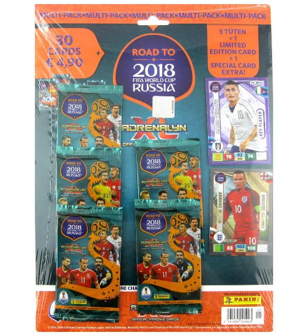 Panini Road to Russia 2018 Adrenalyn XL Multipack Wayne Rooney