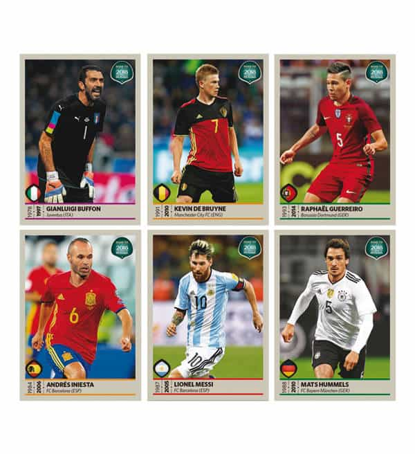 Panini Road to World Cup 2018 Sticker Bilder
