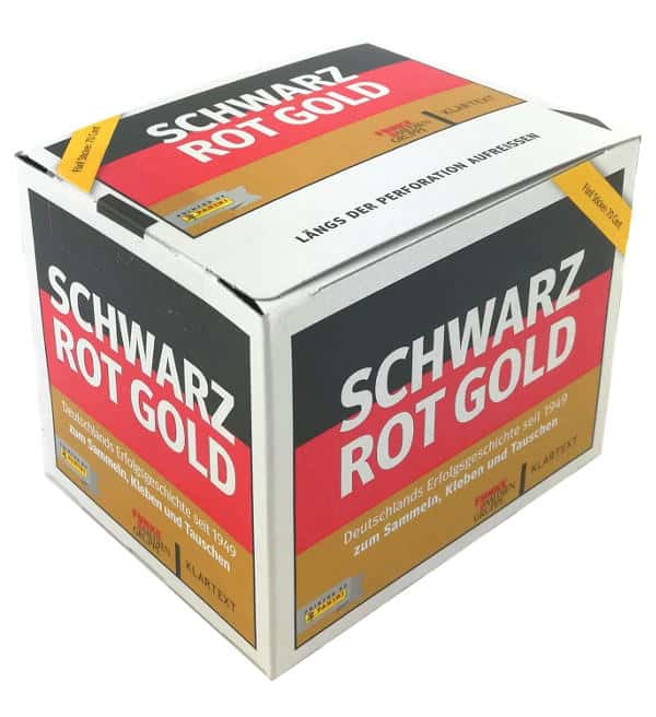 Panini Schwarz Rot Gold Sticker - Display mit 50 Tüten
