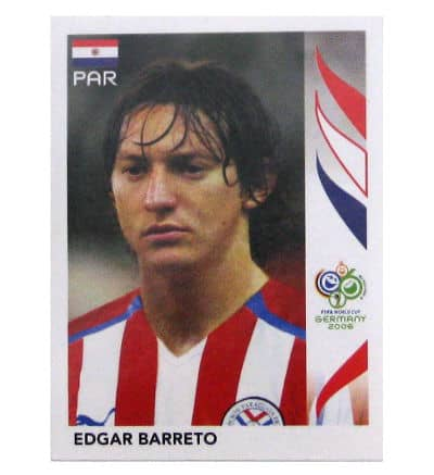 Panini WM 2006 Update Sticker Edgar Barreto echt