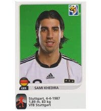 Panini WM 2010 Sami Khedira Update Sticker
