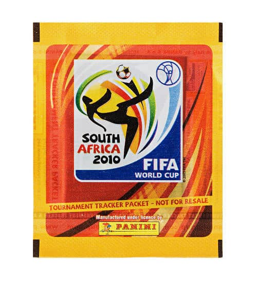 Panini WM 2010 Tournament Tracker Tüte UK vorne