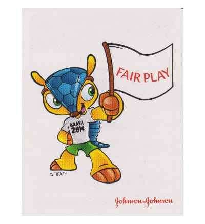 Panini WM 2014 Johnson & Johnson Sticker Fair Play