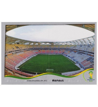Panini WM 2014 Platinum Edition Stadion Sticker